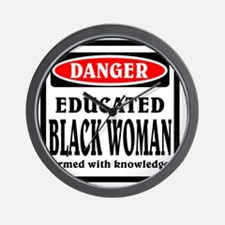 Educated Black Woman Wall Clock