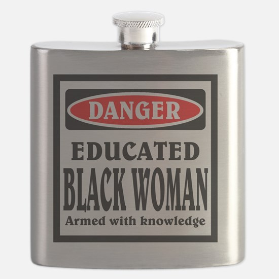 Educated Black Woman Flask