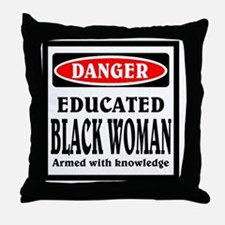 Educated Black Woman Throw Pillow