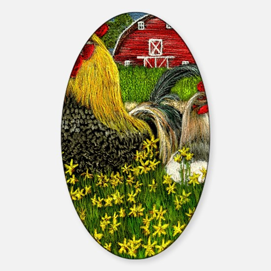 Down on the Farm Sticker (Oval)