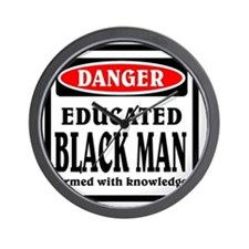 Educated Black Man Wall Clock