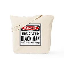 Educated Black Man Tote Bag