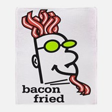 Bacon Fried Throw Blanket