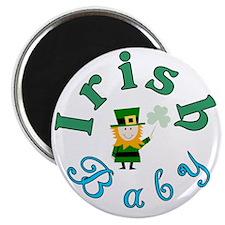 Irish Baby Round logo St Patricks Day Magnet
