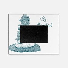Be Mindful Cairn Rocks Picture Frame