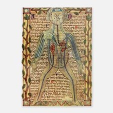 Circulatory system, 17th century 5'x7'Area Rug