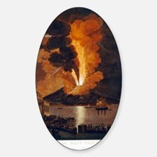 Eruption of Vesuvius, 1779 Sticker (Oval)