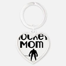 Hockey Mom Heart Keychain