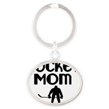 Hockey Mom Oval Keychain