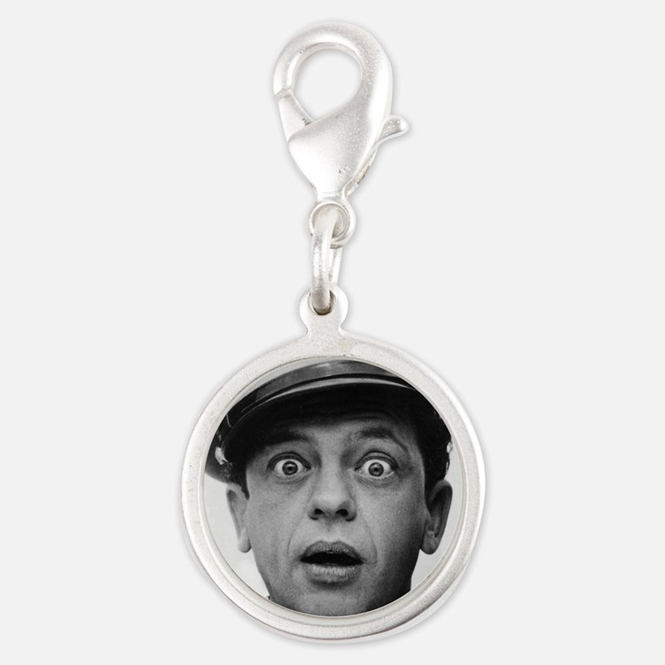 My Dad Don Knotts Silver Round Charm
