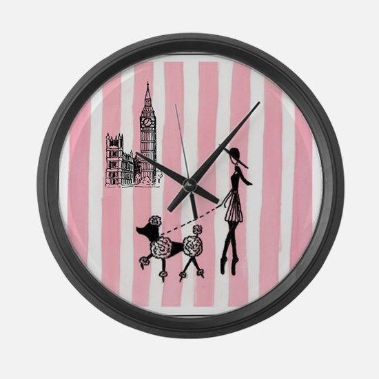 A walk in London Cover Girls Large Wall Clock
