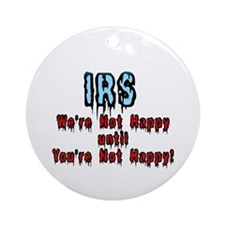 IRS Humor Ornament (Round)