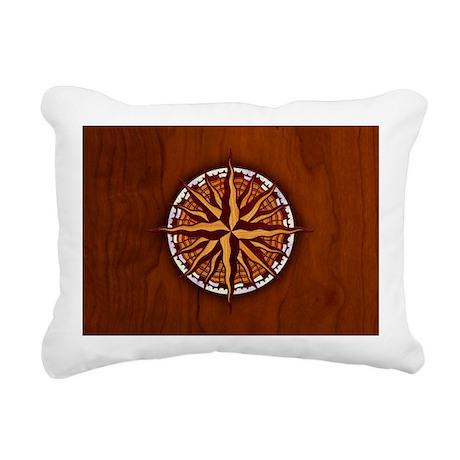 compass-inlay-OV Rectangular Canvas Pillow
