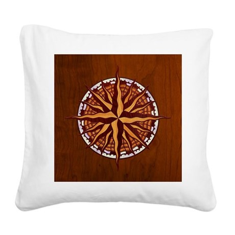 compass-inlay-TIL Square Canvas Pillow