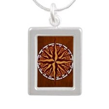 compass-inlay-TIL Silver Portrait Necklace