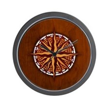 compass-inlay-BUT Wall Clock
