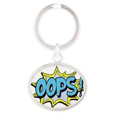 oops Oval Keychain