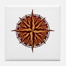 compass-inlay-T Tile Coaster