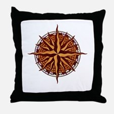 compass-inlay-T Throw Pillow