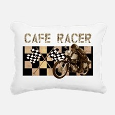 Cafe racer chequered fla Rectangular Canvas Pillow