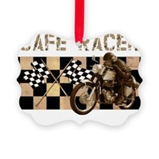 Cafe racer chequered flag Ornament