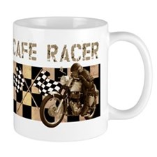 Cafe racer chequered flag Mug