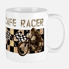 Cafe racer chequered flag Small Small Mug