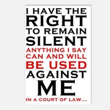 Miranda Rights - I have t Postcards (Package of 8)