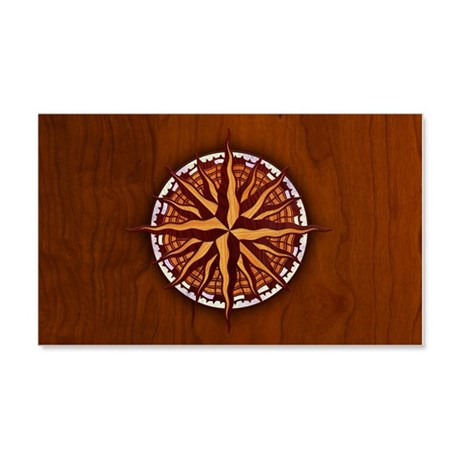 compass-inlay-CRDh 20x12 Wall Decal