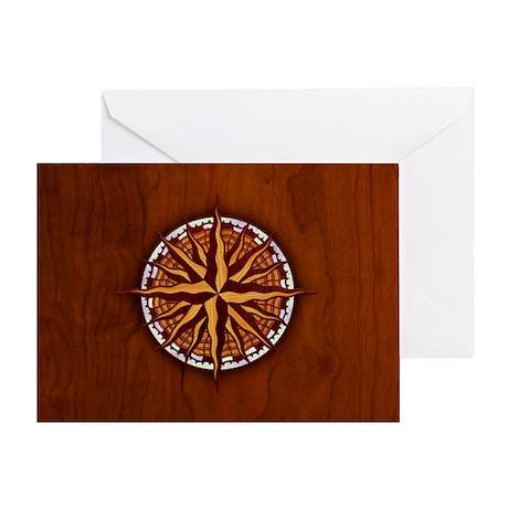 compass-inlay-CRDh Greeting Card