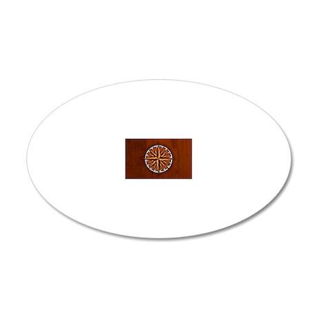 compass-inlay-CRDh 20x12 Oval Wall Decal