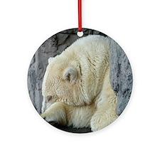 NYC Polar Bear Round Ornament