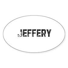 Jeffery Oval Decal
