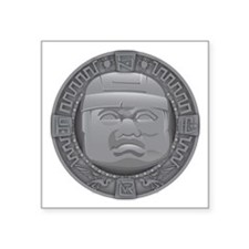 "Olmec Grey Square Sticker 3"" x 3"""