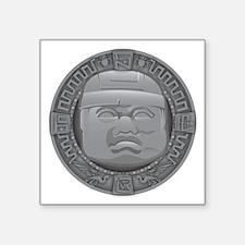 "Olmec Grey Square Sticker 3"" x 3"""