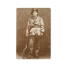 Calamity Jane Old Wild West Rectangle Magnet