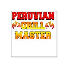 """Peruvian Grill Master Apron Square Sticker 3"""" x 3"""""""