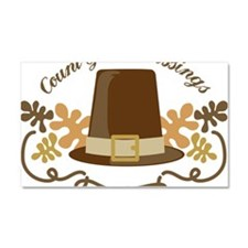 Count Your Blessings Car Magnet 20 x 12