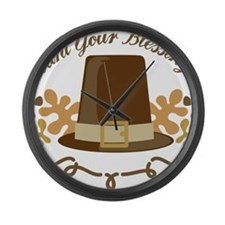 Count Your Blessings Large Wall Clock