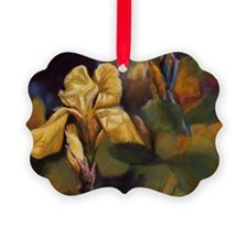 Yellow Iris Flower Ornament