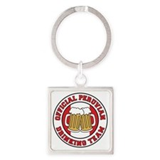 Official Peruvian Drinking Team Square Keychain