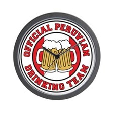 Official Peruvian Drinking Team Wall Clock