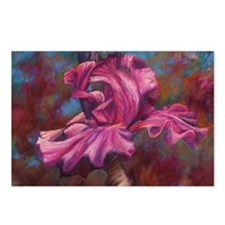 Purple Iris Flower Postcards (Package of 8)