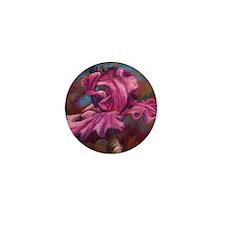 Purple Iris Flower Mini Button