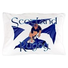 Scotland style rugby player try graphi Pillow Case