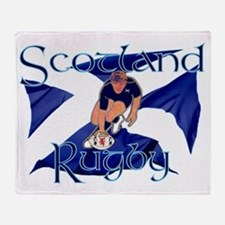 Scotland style rugby player try grap Throw Blanket