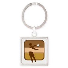 Volleyball Square Keychain