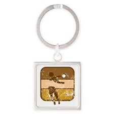 Volleyball (used) Square Keychain