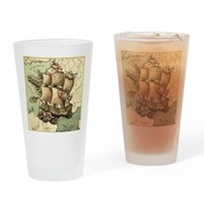 Ancient Map Drinking Glass