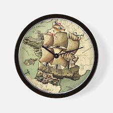 Ancient Map Wall Clock